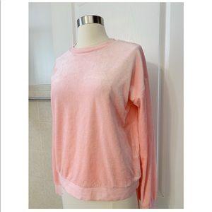 Juicy Couture Pink Velour Sweatshirt. Sz. Small